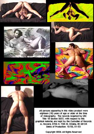 Artistic Male Nudes In Motion Back DVD Cover