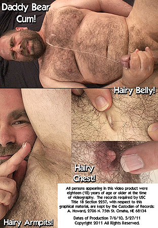 Daddy Bear John X Body Hair Fetish 1: Hairy Chest, Armpits & Fuzzy Face Back DVD Cover