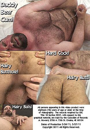 Daddy Bear John X Body Hair Fetish 2: Furry Butt, Hairy Balls, Legs & Back Back DVD Cover