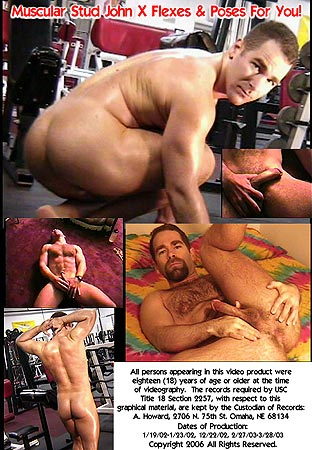 John X Flexing and Posing Video Back DVD Cover