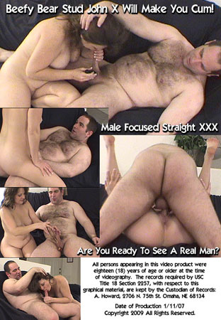 Hairy Men Fucking Women: The Best John X Pussy Banging Re-Edited For Hairy Man Lovers Back DVD Cover