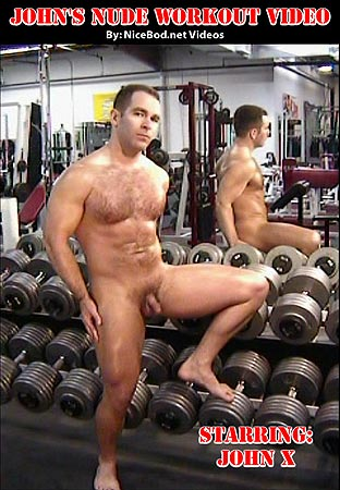 Johns Nude Workout Video Front DVD Cover